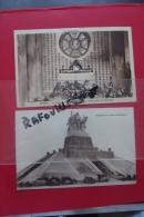 Cp Navarin Monument Aux Morts  + Crypte Lot 2 Cartes - Monumenti Ai Caduti