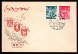 DDR SC #239-40 1955 International Bicycle Peace Race FDC 04-30-1955 - [6] Democratic Republic