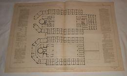 Plan Du Nouvel établissement Des Bains à Enghien, Près De Paris. 1864 - Public Works