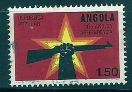 Angola 1975 Republic Star And Hand Holding Rifle Canc - Other