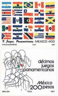 Ref. 37901 * NEW *  - MEXICO . 1987. 10th PANAMERICAN SPORTS GAMES IN INDIANAPOLIS. 10 JUEGOS DEPORTIVOS PANAMERICANOS E - Mexico