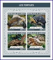 DJIBOUTI 2018 MNH** Turtles Schildkröten Tortues M/S - OFFICIAL ISSUE - DH1813 - Schildkröten