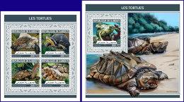 DJIBOUTI 2018 MNH** Turtles Schildkröten Tortues M/S+S/S - OFFICIAL ISSUE - DH1813 - Schildkröten