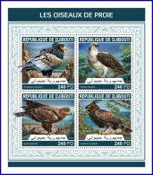 DJIBOUTI 2018 MNH** Birds Of Prey Greifvögel Raubvögel Oiseaux De Proie M/S - OFFICIAL ISSUE - DH1813 - Adler & Greifvögel
