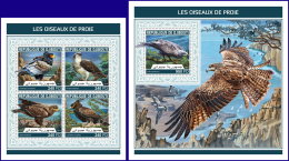 DJIBOUTI 2018 MNH** Birds Of Prey Greifvögel Raubvögel Oiseaux De Proie M/S+S/S - OFFICIAL ISSUE - DH1813 - Adler & Greifvögel
