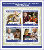 DJIBOUTI 2018 MNH** Pablo Picasso Paintings Gemälde Peintures M/S - OFFICIAL ISSUE - DH1813 - Picasso