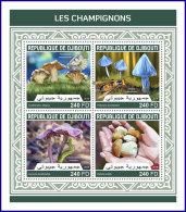 DJIBOUTI 2018 MNH** Mushrooms Pilze Champignons M/S - IMPERFORATED - DH1813 - Pilze