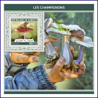 DJIBOUTI 2018 MNH** Mushrooms Pilze Champignons S/S - IMPERFORATED - DH1813 - Pilze