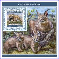 DJIBOUTI 2018 MNH** Wild Cats Wildkatzen Chats Sauvages S/S - IMPERFORATED - DH1813 - Raubkatzen