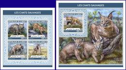 DJIBOUTI 2018 MNH** Wild Cats Wildkatzen Chats Sauvages M/S+S/S - IMPERFORATED - DH1813 - Raubkatzen