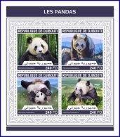 DJIBOUTI 2018 MNH** Pandas Bears Bären Ours M/S - IMPERFORATED - DH1813 - Bären