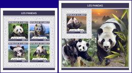 DJIBOUTI 2018 MNH** Pandas Bears Bären Ours M/S+S/S - IMPERFORATED - DH1813 - Bären