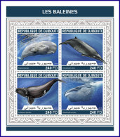 DJIBOUTI 2018 MNH** Whales Wale Baleines M/S - IMPERFORATED - DH1813 - Wale