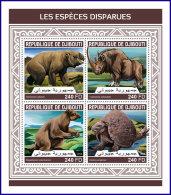 DJIBOUTI 2018 MNH** Extinct Species Ausgestorbene Tiere Especes Disparues M/S - IMPERFORATED - DH1813 - Briefmarken