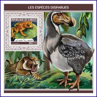 DJIBOUTI 2018 MNH** Extinct Species Ausgestorbene Tiere Especes Disparues S/S - IMPERFORATED - DH1813 - Briefmarken