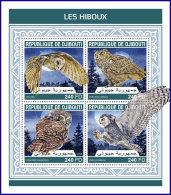 DJIBOUTI 2018 MNH** Owls Eulen Hiboux M/S - IMPERFORATED - DH1813 - Eulenvögel