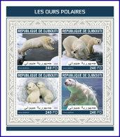 DJIBOUTI 2018 MNH** Polar Bears Eisbären Polarbären Ours Polaires M/S - IMPERFORATED - DH1813 - Bären