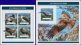 DJIBOUTI 2018 MNH** Birds Of Prey Greifvögel Raubvögel Oiseaux De Proie M/S+S/S - IMPERFORATED - DH1813 - Adler & Greifvögel