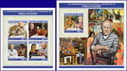 DJIBOUTI 2018 MNH** Pablo Picasso Paintings Gemälde Peintures M/S+S/S - IMPERFORATED - DH1813 - Picasso