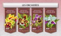 TOGO 2018 MNH** Orchids Orchideen Orchidees M/S - OFFICIAL ISSUE - DH1813 - Orchideen