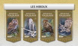 TOGO 2018 MNH** Owls Eulen Hiboux M/S - OFFICIAL ISSUE - DH1813 - Eulenvögel