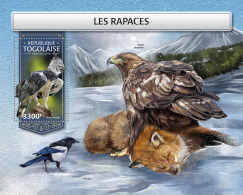 TOGO 2018 MNH** Raptors Raubvögel Greifvögel Rapaces S/S - OFFICIAL ISSUE - DH1813 - Adler & Greifvögel