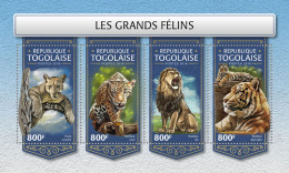 TOGO 2018 MNH** Big Katze Großkatzen Raubkatzen Grands Felins M/S - OFFICIAL ISSUE - DH1813 - Raubkatzen