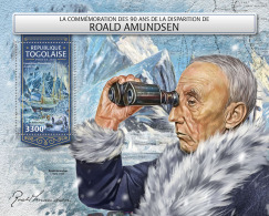 TOGO 2018 MNH** Roald Amundsen North + South Pole S/S - OFFICIAL ISSUE - DH1813 - Polarforscher & Promis