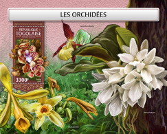 TOGO 2018 MNH** Orchids Orchideen Orchidees S/S - IMPERFORATED - DH1813 - Orchideen