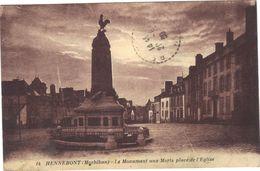 Hennebont .  Le Monument Aux Morts Place De L'Eglise . Circulée . - Hennebont