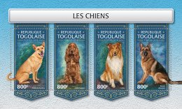 TOGO 2018 MNH** Dogs Hunde Chiens M/S - IMPERFORATED - DH1813 - Hunde