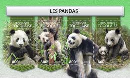 TOGO 2018 MNH** Pandas Bears Bären Ours M/S - IMPERFORATED - DH1813 - Bären
