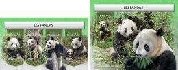 TOGO 2018 MNH** Pandas Bears Bären Ours M/S+S/S - IMPERFORATED - DH1813 - Bären
