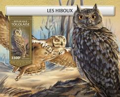 TOGO 2018 MNH** Owls Eulen Hiboux S/S - IMPERFORATED - DH1813 - Eulenvögel