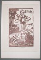 Ex-libris Moderne XXème Illustré -  Allemagne - Wilhelm Ervig - Ex-libris