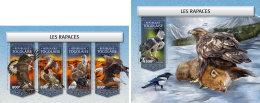 TOGO 2018 MNH** Raptors Raubvögel Greifvögel Rapaces M/S+S/S - IMPERFORATED - DH1813 - Adler & Greifvögel