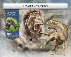 TOGO 2018 MNH** Big Katze Großkatzen Raubkatzen Grands Felins S/S - IMPERFORATED - DH1813 - Raubkatzen