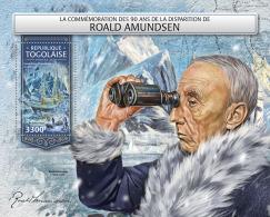 TOGO 2018 MNH** Roald Amundsen North + South Pole S/S - IMPERFORATED - DH1813 - Polarforscher & Promis