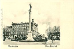 Cpa MONTEVIDEO - Plaza Libertad - Uruguay