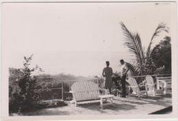 Haiti,cap Haitien En 1938,vue Sur La Mer,emprunte Américaine,vue D'un Hotel De Luxe,caraibe,photo 8,5cm X6 Cm,rare - Haïti