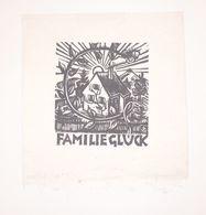 Ex-libris Moderne XXème Illustré -  Allemagne - FAMILIE GLUCK - Ex-libris