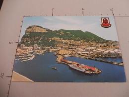 33 - Gibraltar - Areal View Of Gibraltar And Marina - Viaggiata - (3137) - Gibilterra