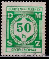 Bohemia & Moravia, 1941, German Occupation, Official, 50h, Sc#OG3, Used - Bohemia & Moravia