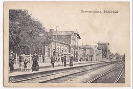 Alte AK Polen Noworadomsk Bahnhof - Polen