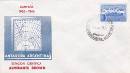 Argentina Cover Posted Almirante Brown P/m Antartida Argentina 1965  (G88-38) - Bases Antarctiques