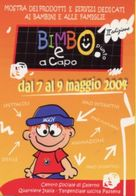 Cartolina Pubblicitaria BIMBO PUNTO E A CAPO Mostra Prodotti E Servizi Dedicati Ai Bambini E Famiglie - PERFETTO P26 - Pubblicitari