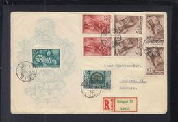 Hungary Registered Cover 1940 To Switzerland Small Tear - Ungarn
