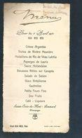 MENU DE DINER AVRIL 1931 AU GRAND HOTEL AMEIL à RIOM PUY DE DOME - Menus