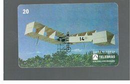 BRASILE ( BRAZIL) - TELEBRAS   -   1995  PLANES: FLIGHT OF 14 BIS IN 1906 - USED - RIF.10503 - Brazil