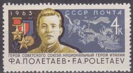 USSR 1963 SK№2857 (2948) NATIONAL HERO OF ITALY F.A. POLETAEV. Hero Of The Soviet Union - 1923-1991 URSS